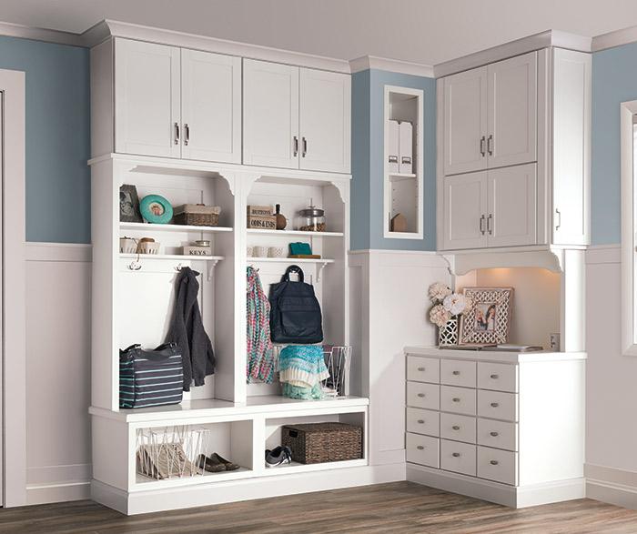 White Laminate Cabinets Aristokraft Cabinetry