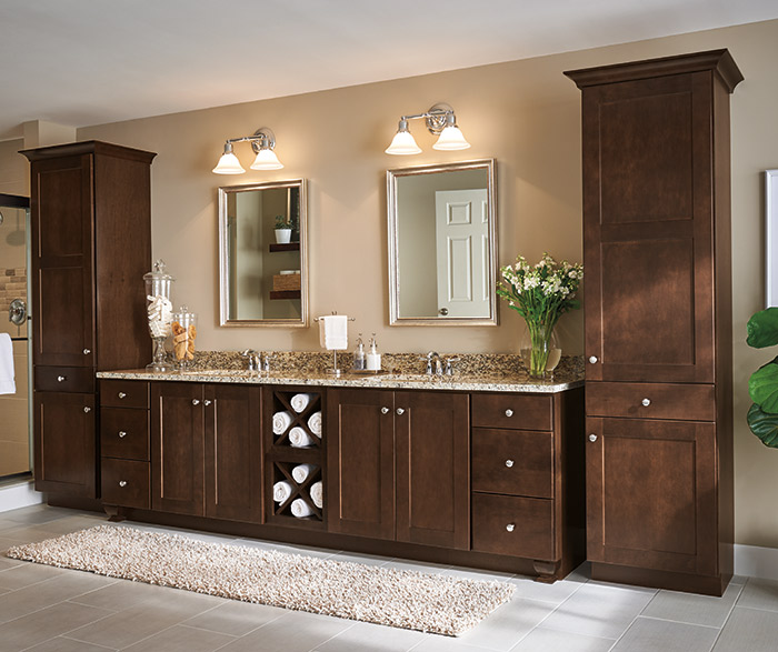 dark cabinets in bathroom cabinets in a transitional bathroom aristokraft 14430