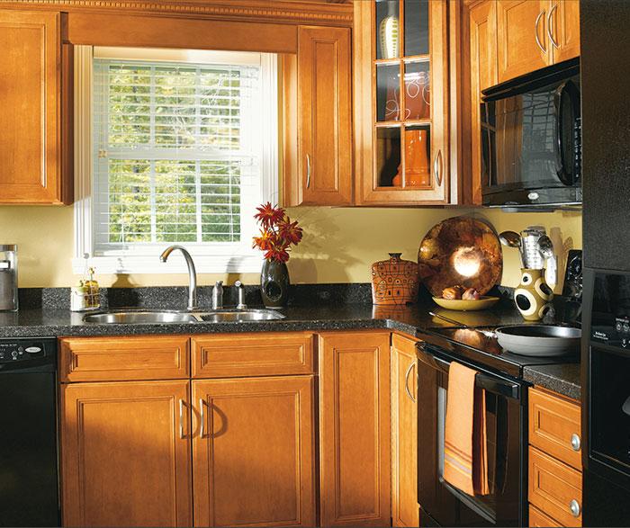 Inspiring Second Hand Cabinets 4 Dark Cherry Kitchen: Maple Cabinets In Traditional Kitchen